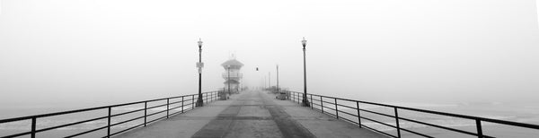 A photo of a pier on a foggy morning. Photo is a free high resolution stock image to use any way you choose.