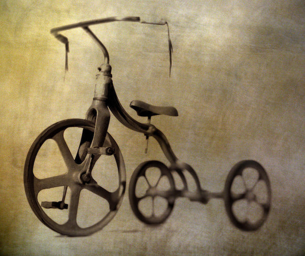 A photo of a spooky tricycle. Photo is a free high resolution stock image to use any way you choose.