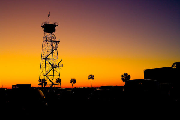 A photo of a Jacksonville NASA station at sunset. Photo is a free high resolution stock image to use any way you choose.