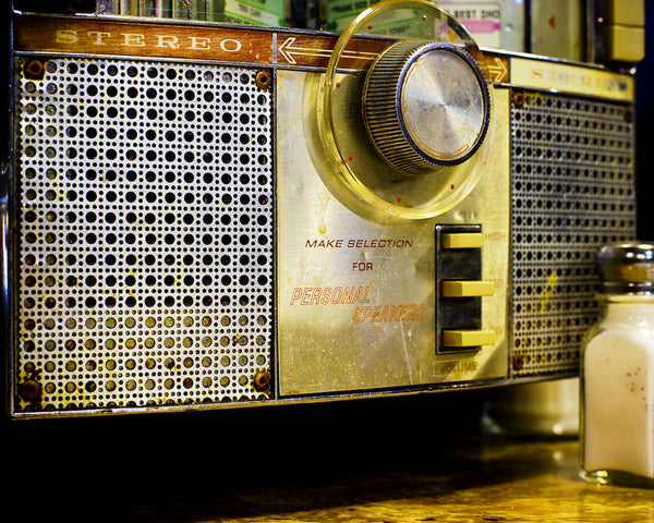 A photo of a classic stereo radio. Photo is a free high resolution stock image to use any way you choose.