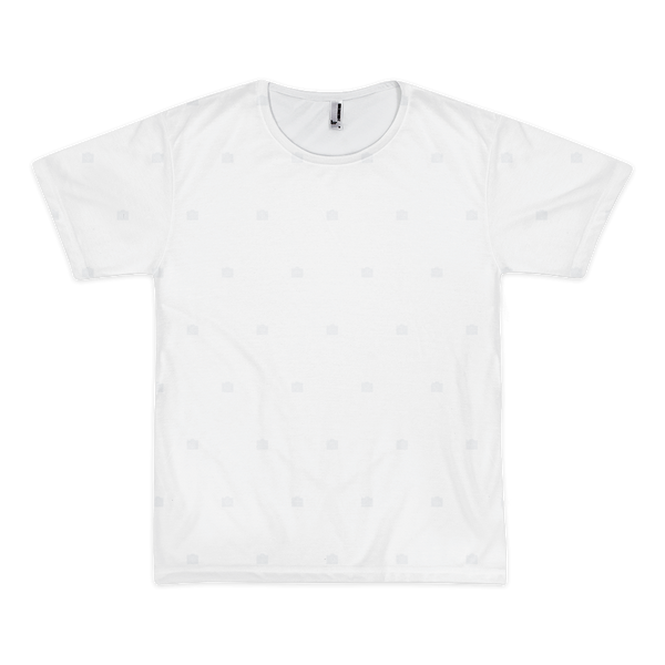 Photocrops All-Over White On White - Mens T-Shirt