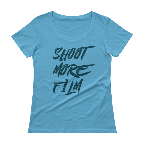 Shoot More Film Blue - Womens T-Shirt