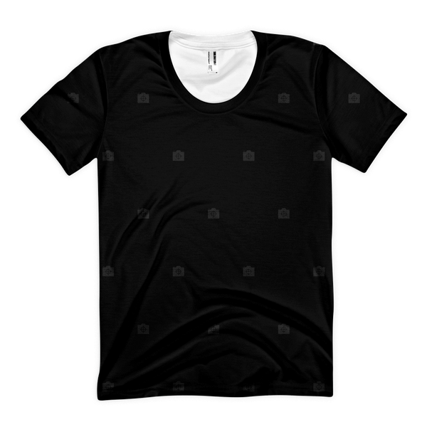 Photocrops All-Over Black On Black Womens
