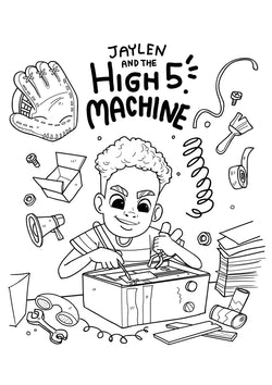 Jaylen & the High Five Machine Coloring Sheet