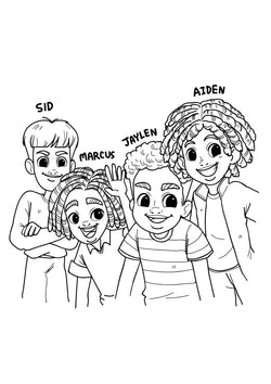 Melanites Crew Coloring Sheet
