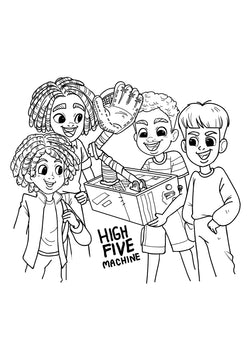 High Five Machine Coloring Sheet