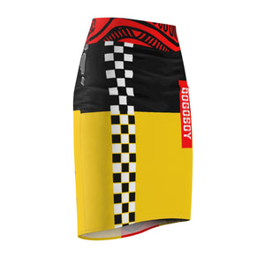 Racer Pencil Skirt