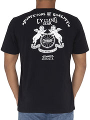 Cycology Sydney Mens Black Cycling T-Shirt | Cycology USA