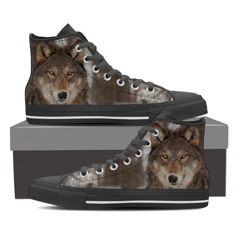 Wolf Series Mens High Top #1 - Black