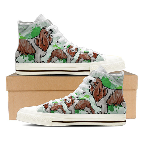 Cavalier King Charles Spaniel Men's High Top Shoes - White