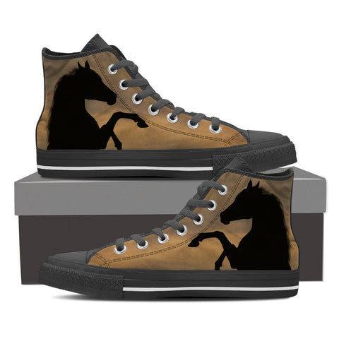 Wild Horse in Sunset - Men's High Tops