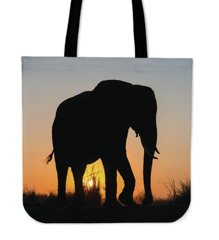 Elephants In The Wild  - Linen Tote Bag Collection