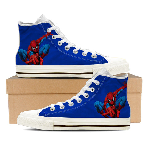 Spiderman - BLUE - mens High Tops