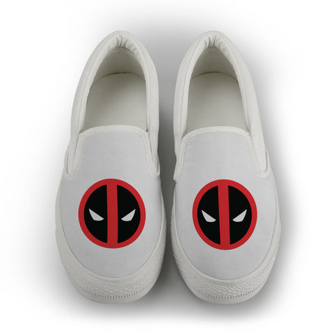 Deadpool women's Slip On Shoes - White
