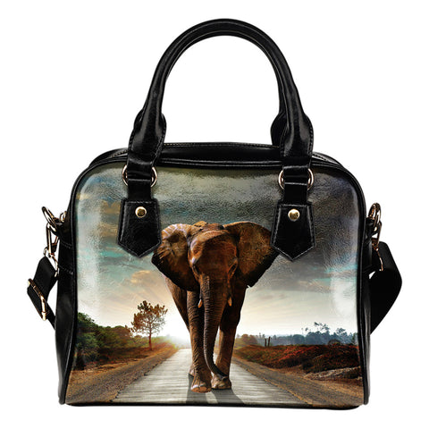 Elephants In The Wild - Shoulder Handbag
