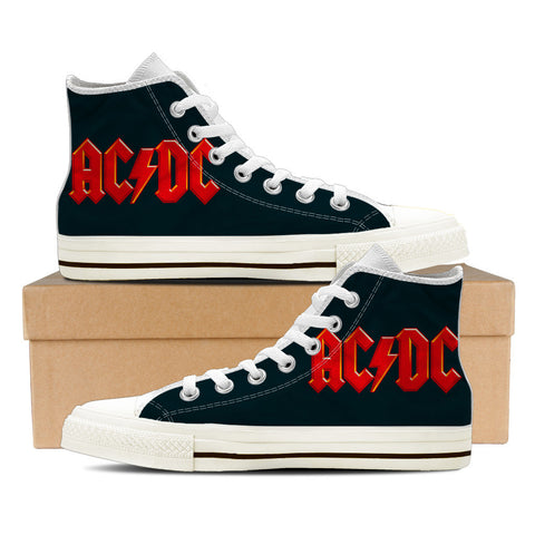 AC/DC - BLACK & WHITE - mens High Tops