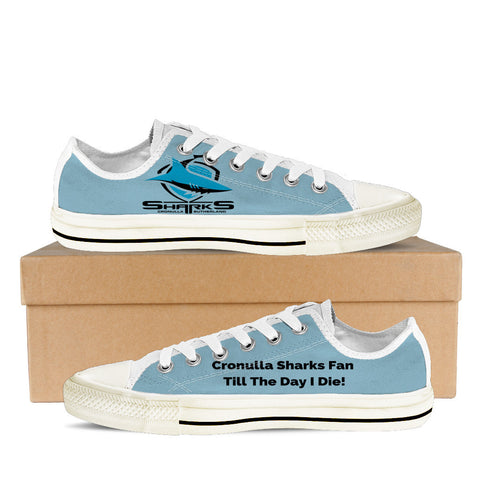 Cronulla Sharks Fan Till I Die Women's Low Tops