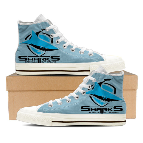 Sharks Mens High Top Shoes