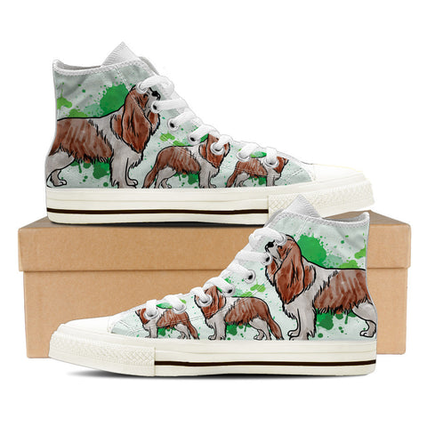 Cavalier King Charles Spaniel Women's High Top Shoes - White