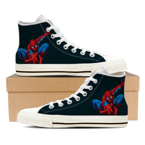 Spiderman - BLACK - mens High Tops