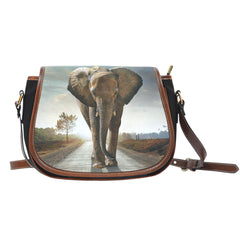 Elephants In The Wild - Saddle Bag