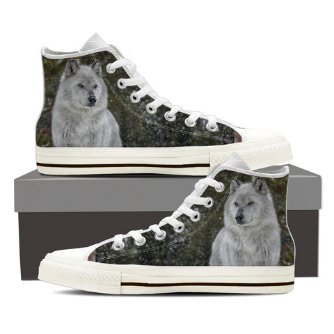 Wolf Series Men's High Top #2 - White