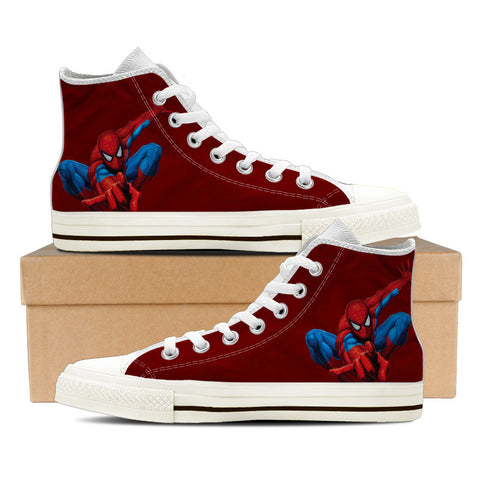 Spiderman - RED - mens High Tops