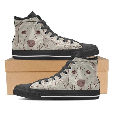 Golden Retriever Men's High Top Shoes