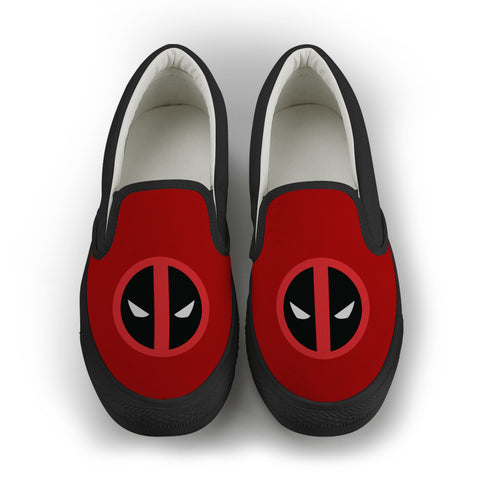 Deadpool women's Slip On Shoes - Red