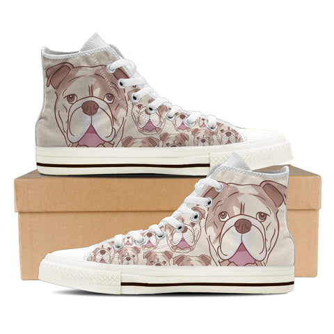 Bulldogs Women's High Top Shoes - White