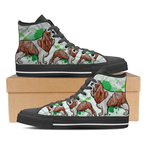 Cavalier King Charles Spaniel Women's High Top Shoes - Black