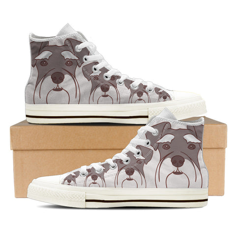 Schnauzer Women's High Top Shoes - White