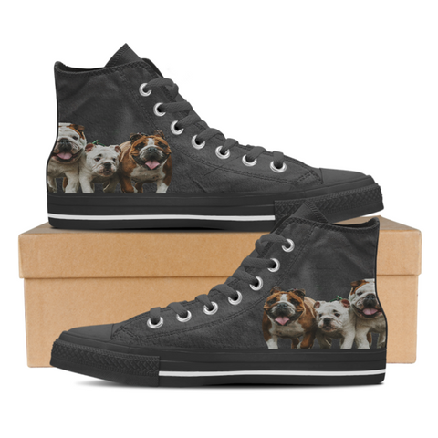 3 Bulldogs -  Women's High Top Shoes (#1)