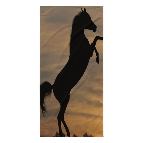 Horse in the wild Collection - [Sunset #4] Beach Towel