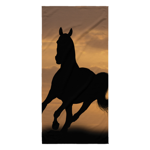 Horse in the wild Collection - [Sunset #1] Beach Towel