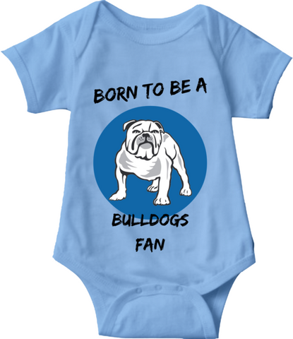 BORN TO BE A BULLDOG FAN - BABY ONESIE