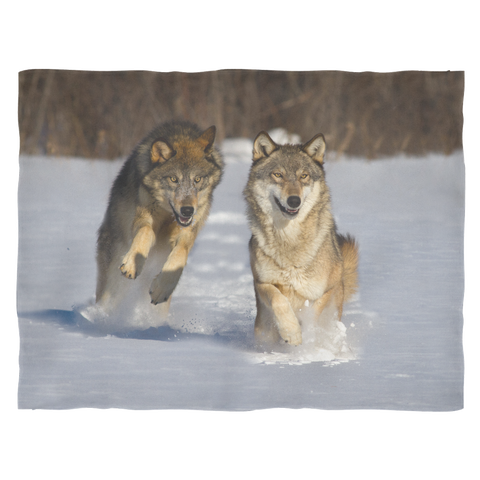 Wolf Series Fleece Blanket