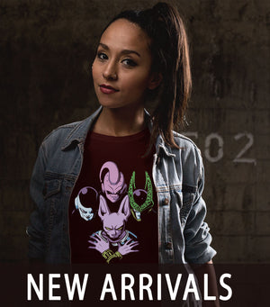 New Arrivals for Anime, Gaming, Comics, Animation, Cartoon, Pop Culture and Indie Inspired Tees