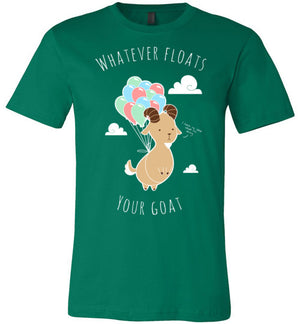 Whatever Floats Your Goat-Indie Shirts-Chocolate Raisins Art|Threadiverse
