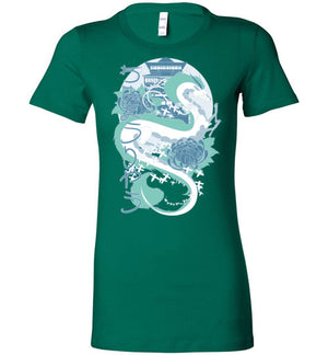 Dragon of the River-Anime Women's Shirts-Chocolate Raisins Art|Threadiverse