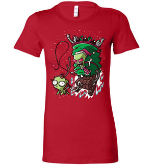 Zim Stole Christmas-Animation Women's Shirts-CoD (Create Or Destroy) Designs|Threadiverse