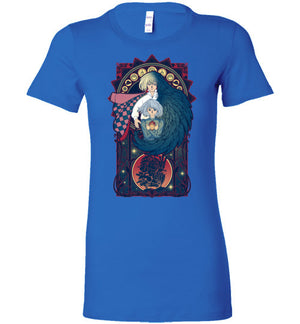 Art of a Moving Castle-Anime Women's Shirts-Chocolate Raisins Art|Threadiverse