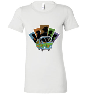 Mystery Pals-Animation Women's Shirts-Skullpy|Threadiverse