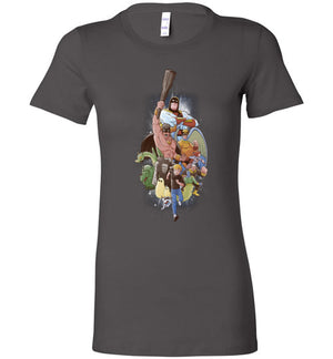 Childhood Heroes-Animation Women's Shirts-Skullpy|Threadiverse
