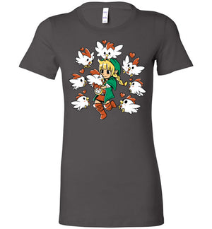 Linkle The Cucco Queen-Gaming Women's Shirts-Art Of Sarah Richford|Threadiverse