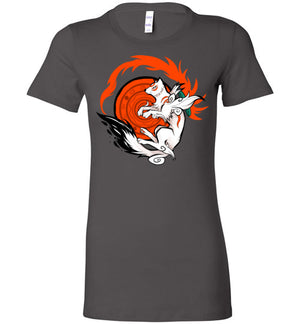 White Wolf Goddess-gaming women's shirts-Art Of Sarah Richford|Threadiverse