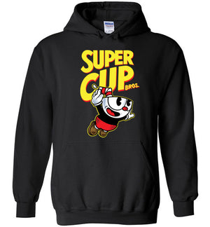 Cup Head Bros-Gaming Zipper Hoodies-Demonigote|Threadiverse