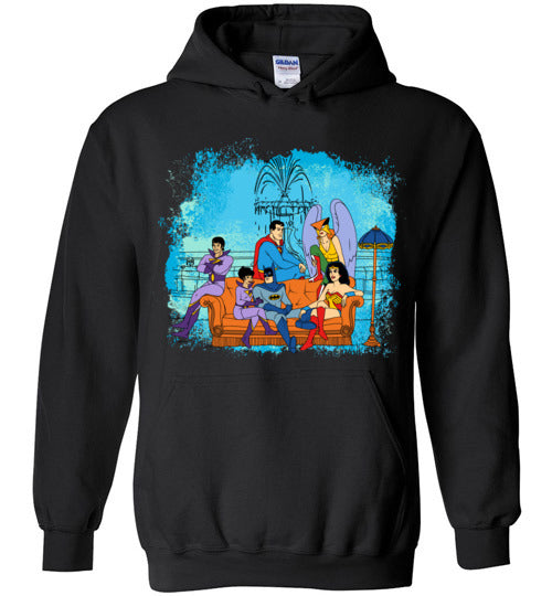 Super Friends-Comics Hoodies-CoD (Create Or Destroy) Designs|Threadiverse