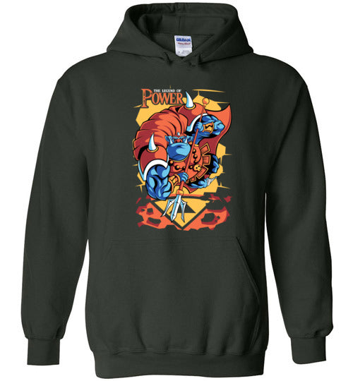 The Legend Of Power-Gaming Hoodies-Pinteezy|Threadiverse