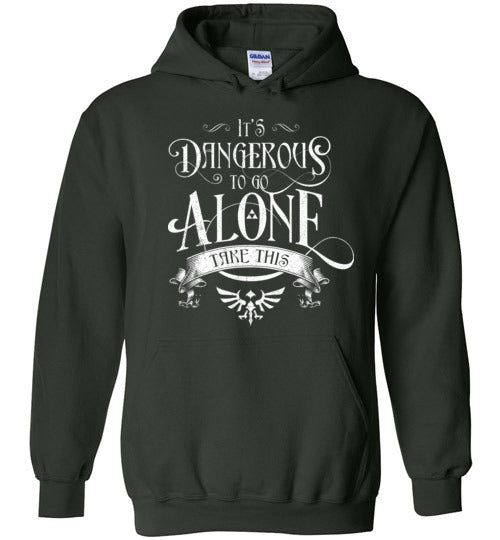 It's Dangerous To Go Alone-Gaming Hoodies-Barrett Biggers|Threadiverse